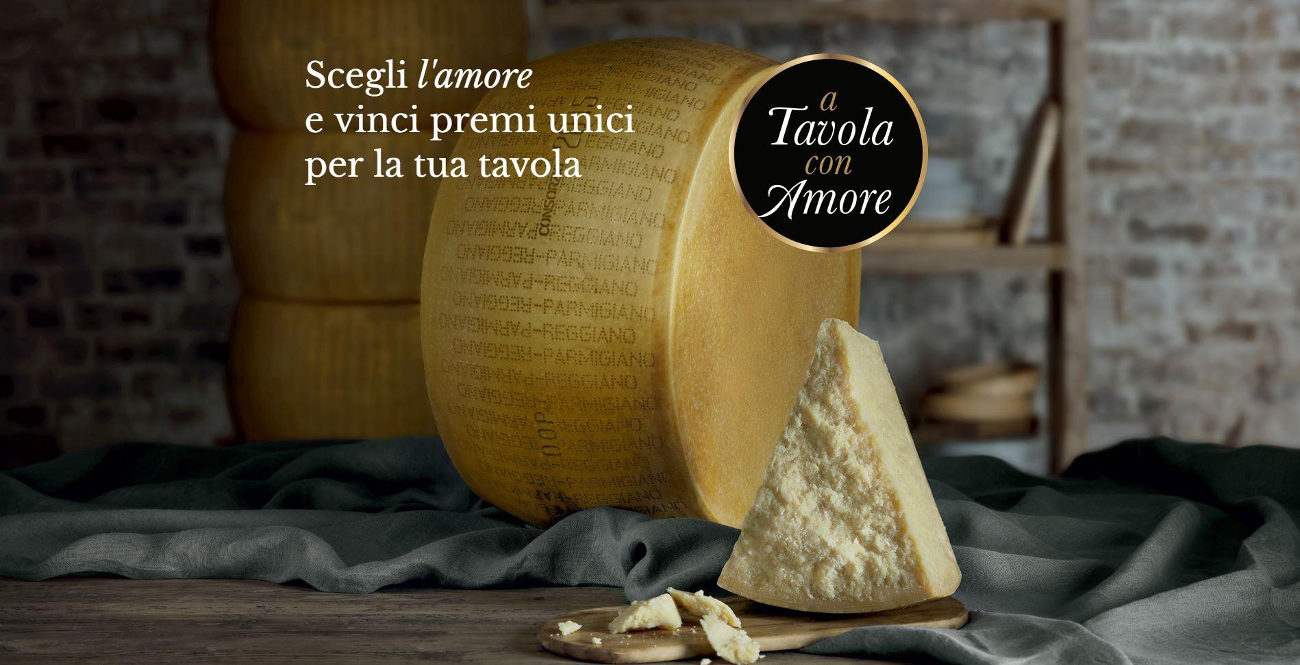 Vincere concorso a Tavola con Amore Parmigiano Reggiano